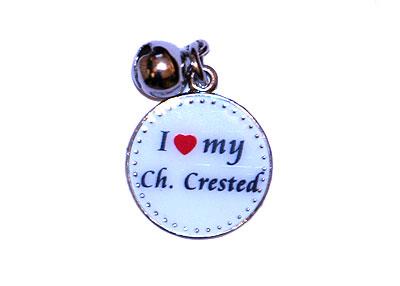 """Подвеска """"I Love My Ch. Crested"""""""