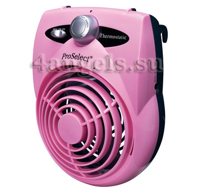Thermostatic Crate Fan (pink)